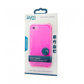 COQUE RENFORCEE TRANSPARENTE ROSE JAYM COMPATIBLE APPLE IPHONE 7 / 8