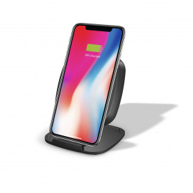 CHARGEUR INDUCTION + STAND - FAST CHARGE QI APPLE-SAMSUNG 15W ZENS