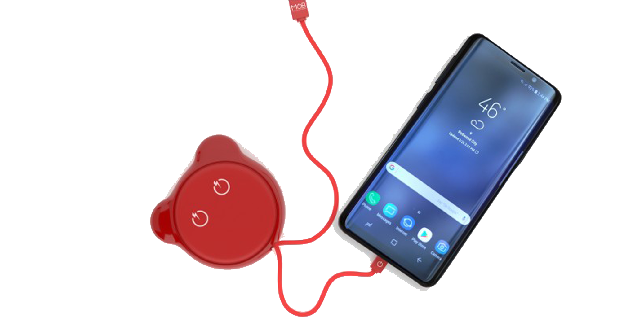 CABLE RETRACTABLE TYPE C - TEDDY ROUGE MOB