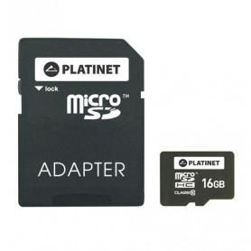 CARTE MEMOIRE MICRO SDHC CLASS 10 - 16GB - PLATINET