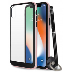 COQUE PREMIUM BUMPER ET VITRE COMPATIBLE APPLE IPHONE XS MAX OR ROSE