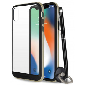 COQUE PREMIUM BUMPER ET VITRE COMPATIBLE APPLE IPHONE XS MAX OR