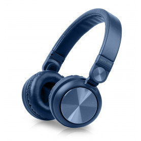 CASQUE BLUETOOTH BLEU METAL + MAINS LIBRES - MUSE