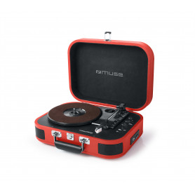 TOURNE-DISQUES VINYLES + FONCTION STEREO BLUETOOTH 2 x 5W ROUGE - MUSE