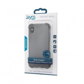 COQUE RENFORCEE TRANSPARENTE GRISE JAYM COMPATIBLE APPLE IPHONE X / XS