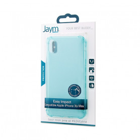 COQUE RENFORCEE TRANSPARENTE BLEUE JAYM COMPATIBLE APPLE IPHONE XS MAX