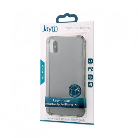 COQUE RENFORCEE TRANSPARENTE GRISE JAYM COMPATIBLE APPLE IPHONE XR